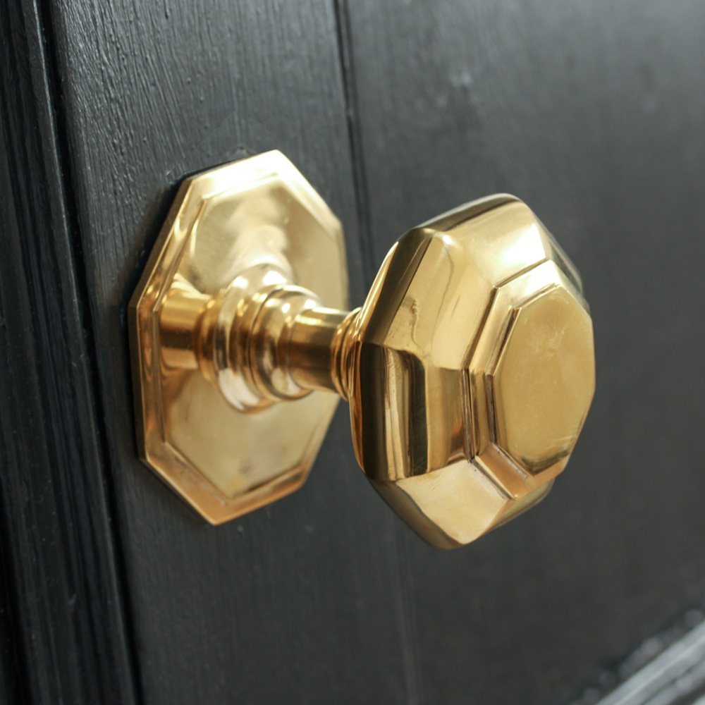 small brass door knobs photo - 16