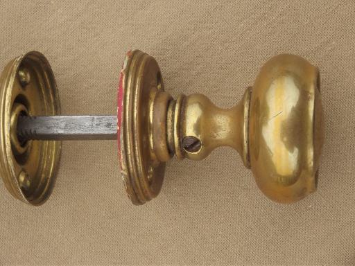 solid brass door knobs photo - 9