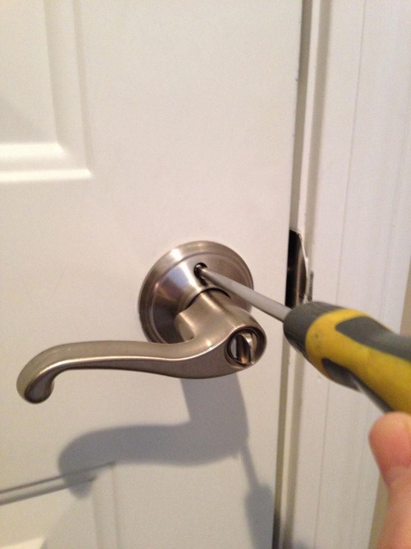 tighten loose door knob photo - 5