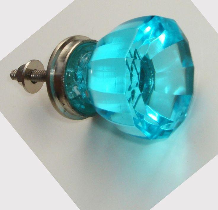 turquoise door knobs photo - 3