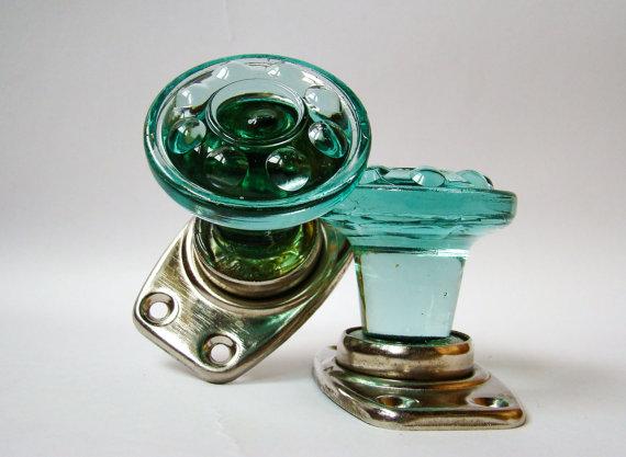 turquoise door knobs photo - 6