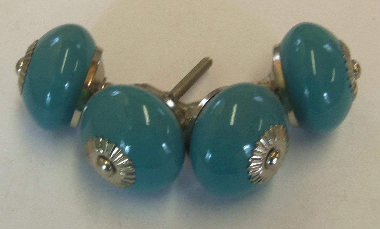 turquoise door knobs photo - 9