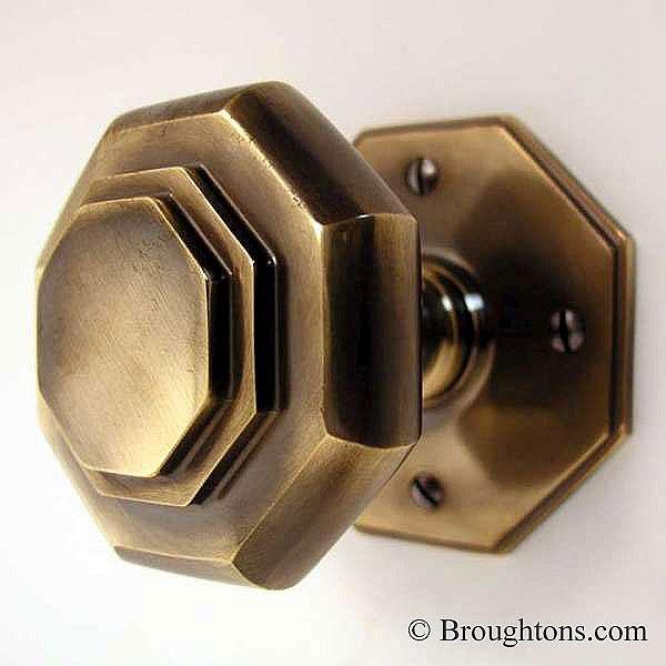 unlacquered brass door knobs photo - 1