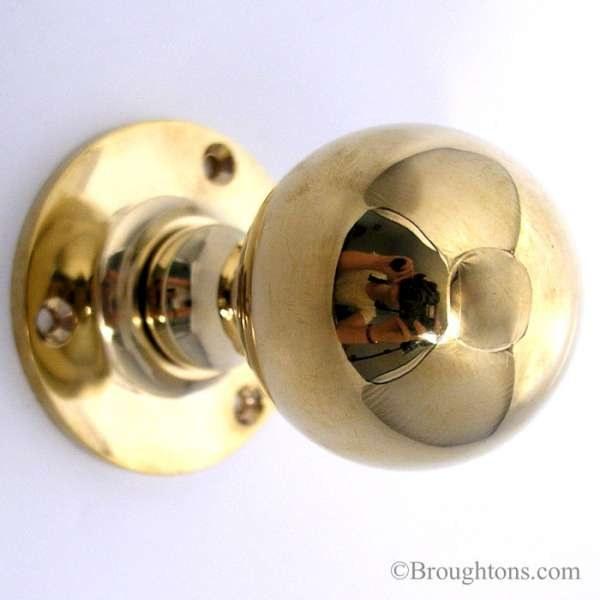 unlacquered brass door knobs photo - 14