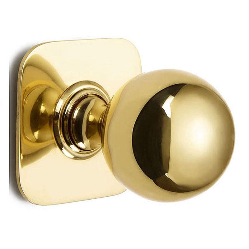 unlacquered brass door knobs photo - 16
