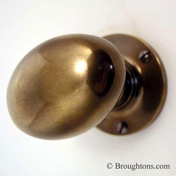 unlacquered brass door knobs photo - 2