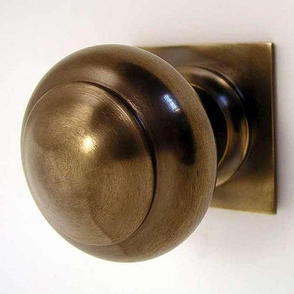 unlacquered brass door knobs photo - 3