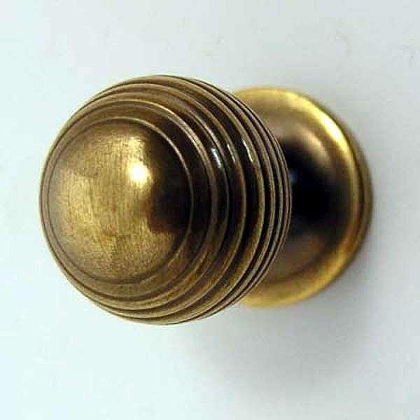 unlacquered brass door knobs photo - 4