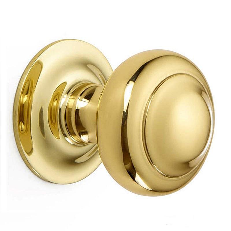 unlacquered brass door knobs photo - 5