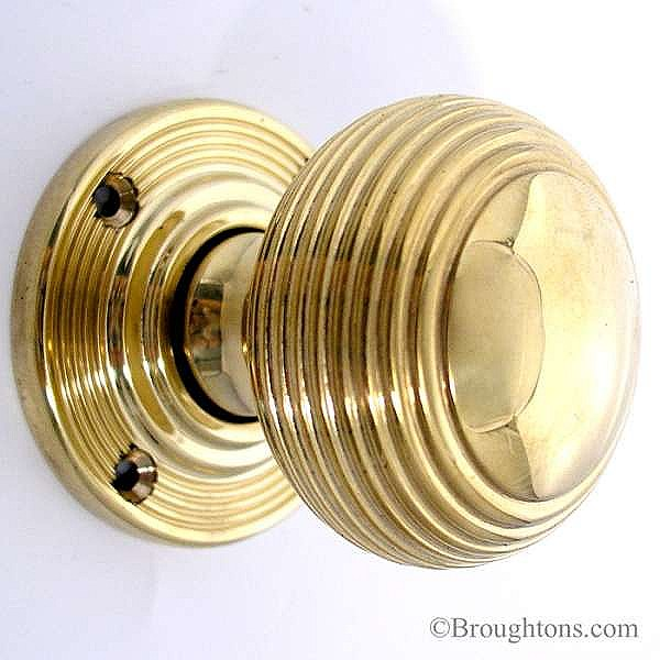 unlacquered brass door knobs photo - 7