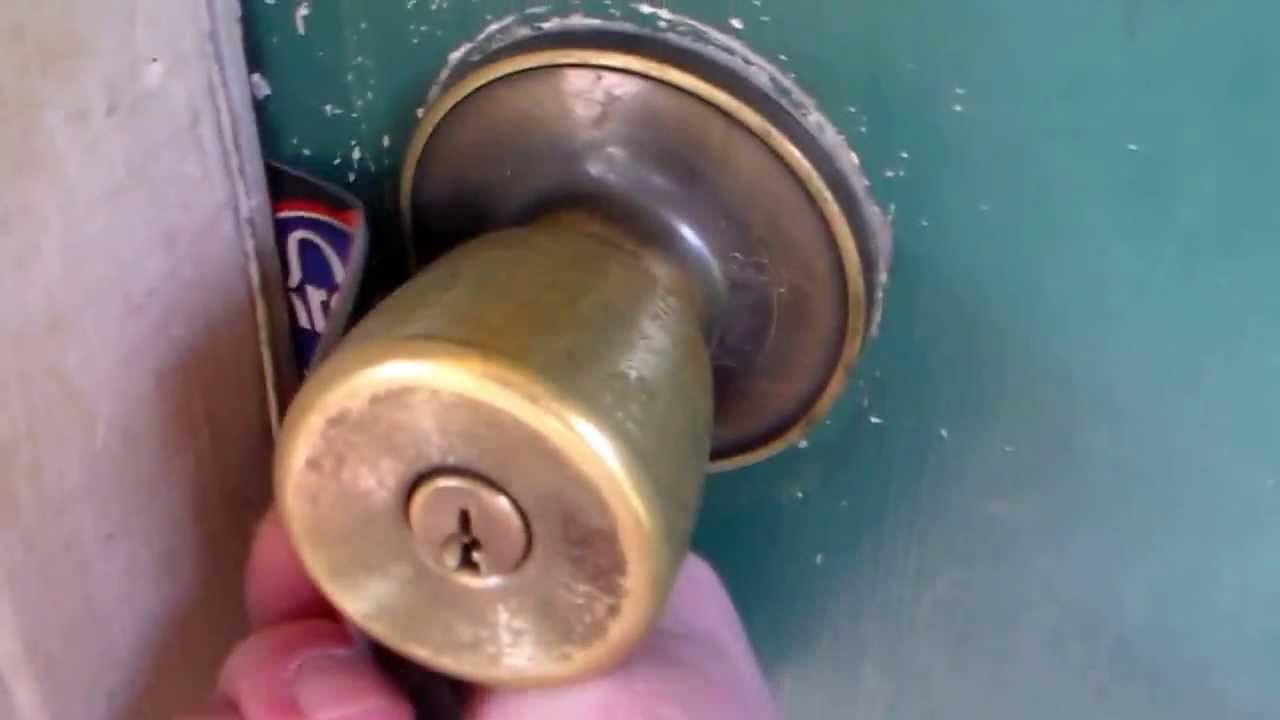 unlock door knob without key photo - 12