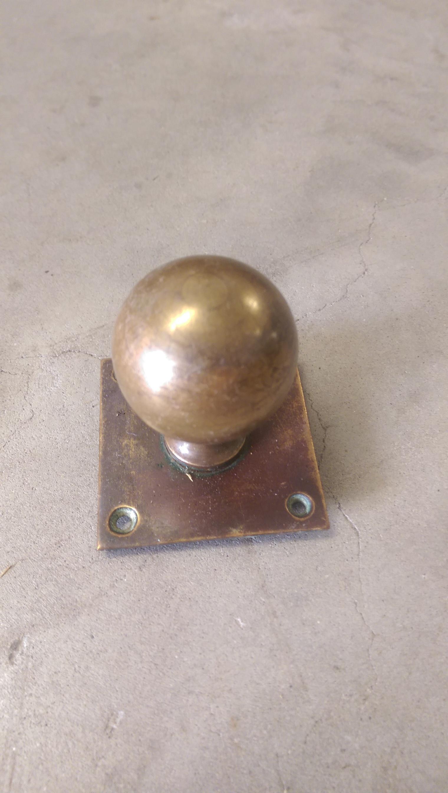 victorian brass door knobs photo - 10