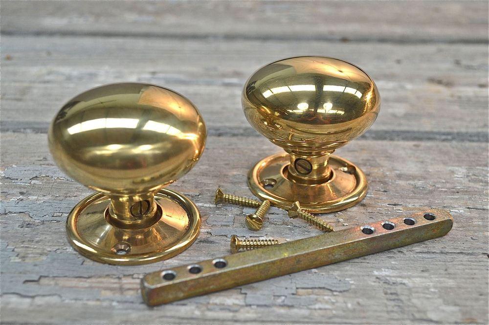 victorian brass door knobs photo - 3