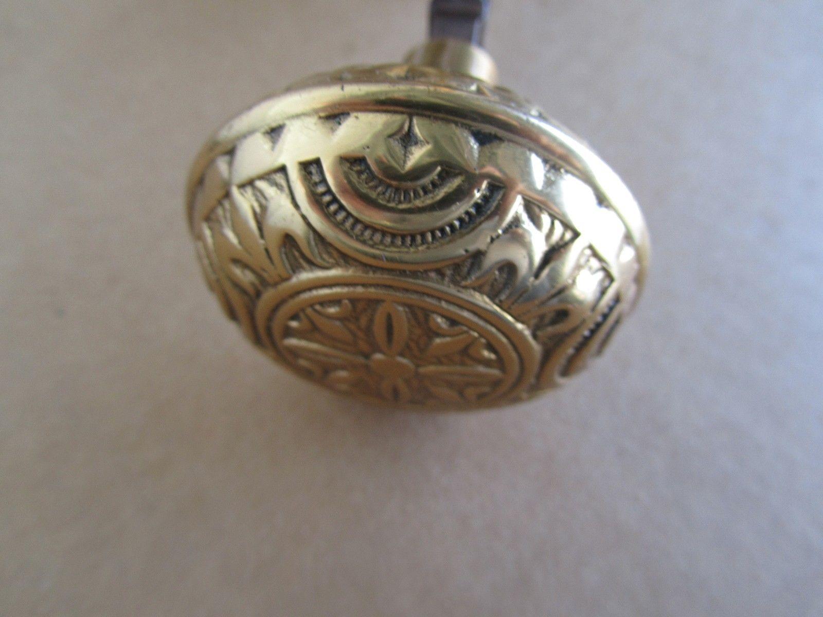 victorian brass door knobs photo - 4