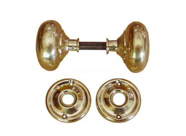 victorian brass door knobs photo - 6