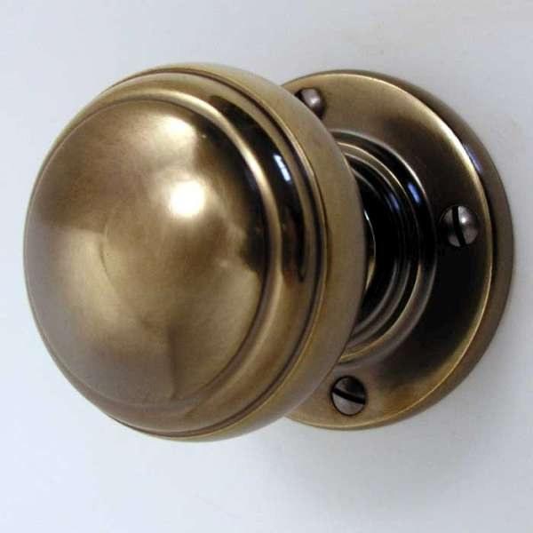 vintage brass door knobs photo - 12