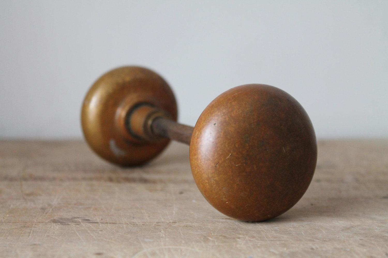 vintage brass door knobs photo - 2