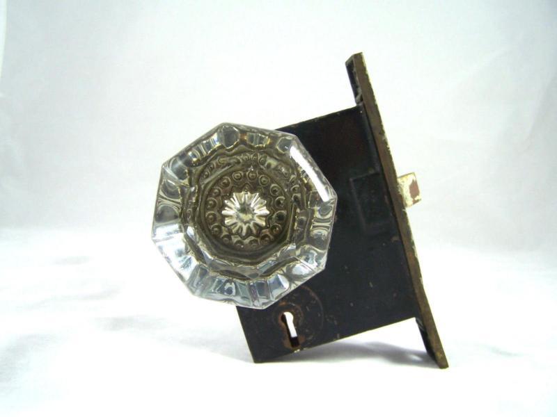 vintage crystal door knobs photo - 8