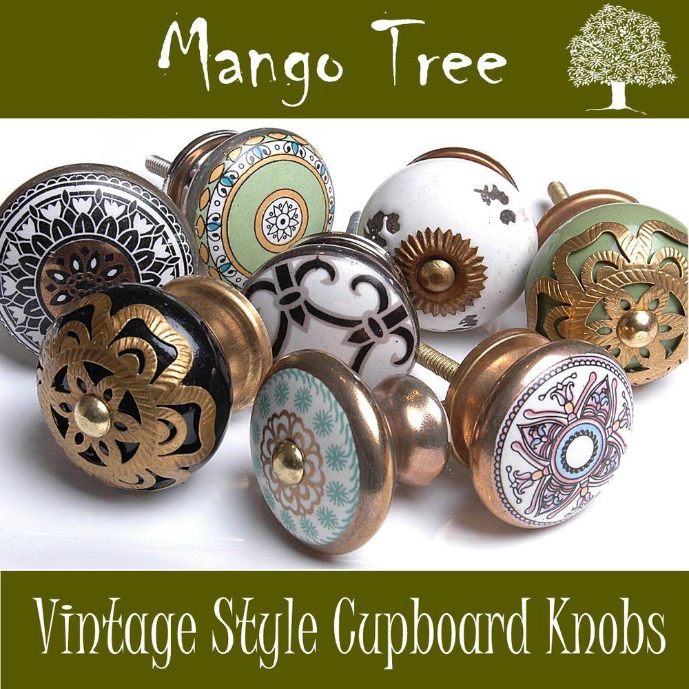 vintage cupboard door knobs photo - 3