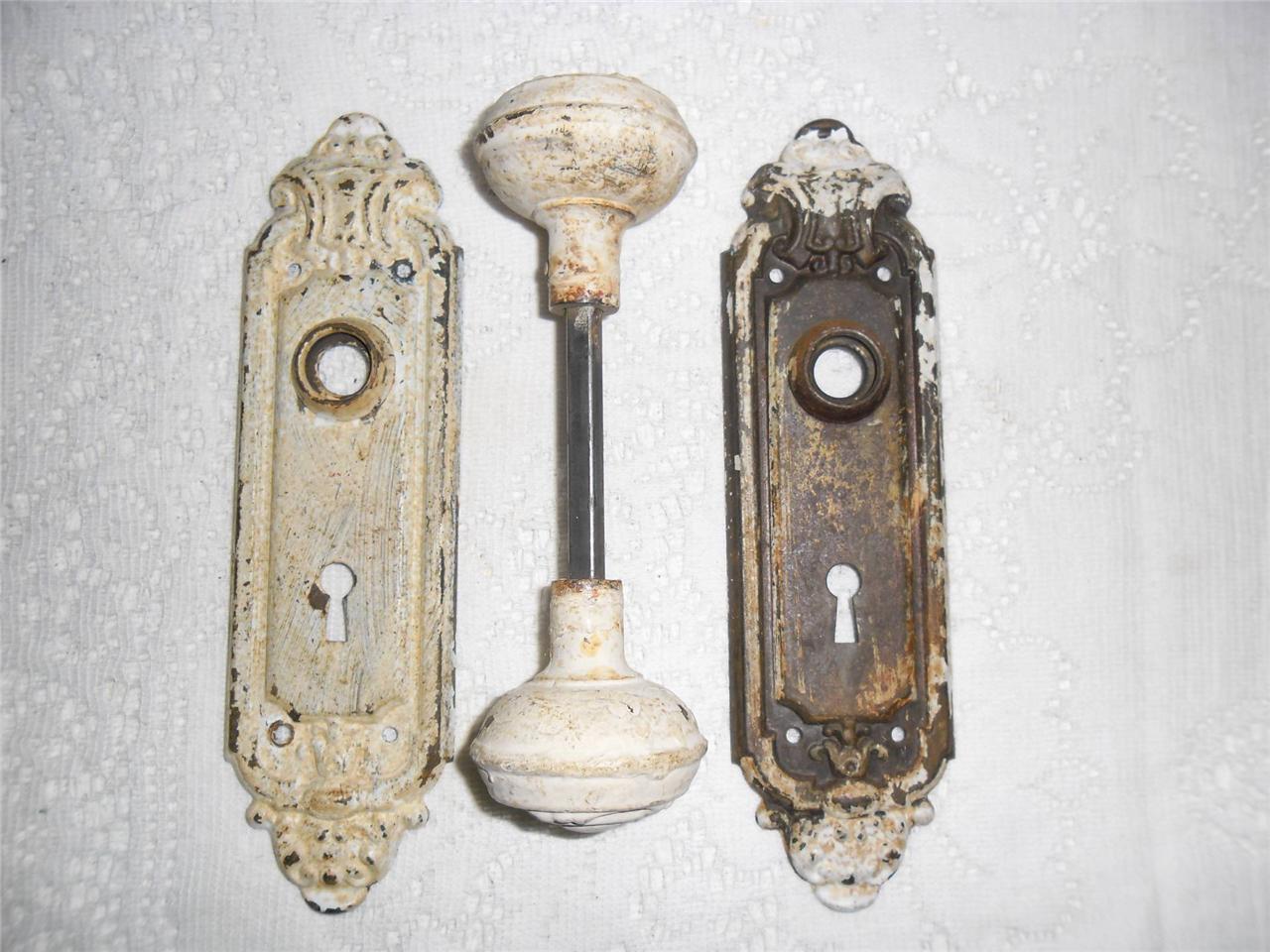 vintage door knob backplates photo - 1