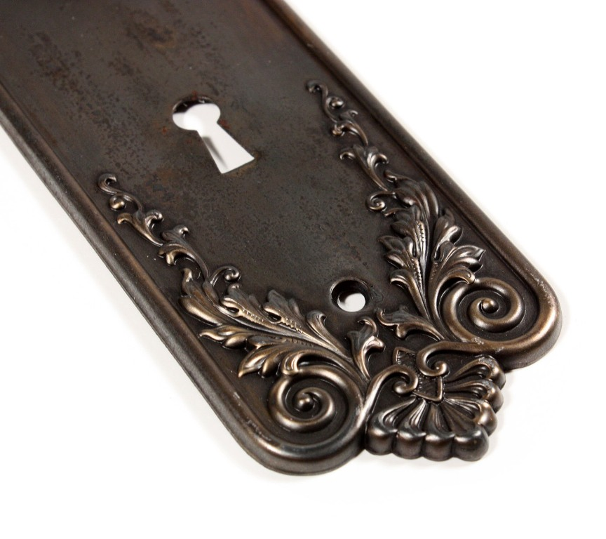vintage door knob backplates photo - 12