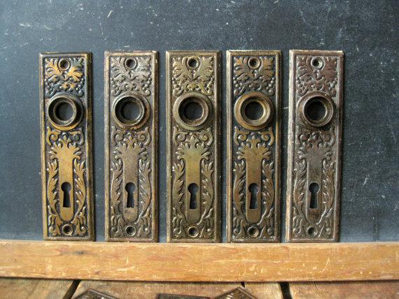 vintage door knob backplates photo - 15