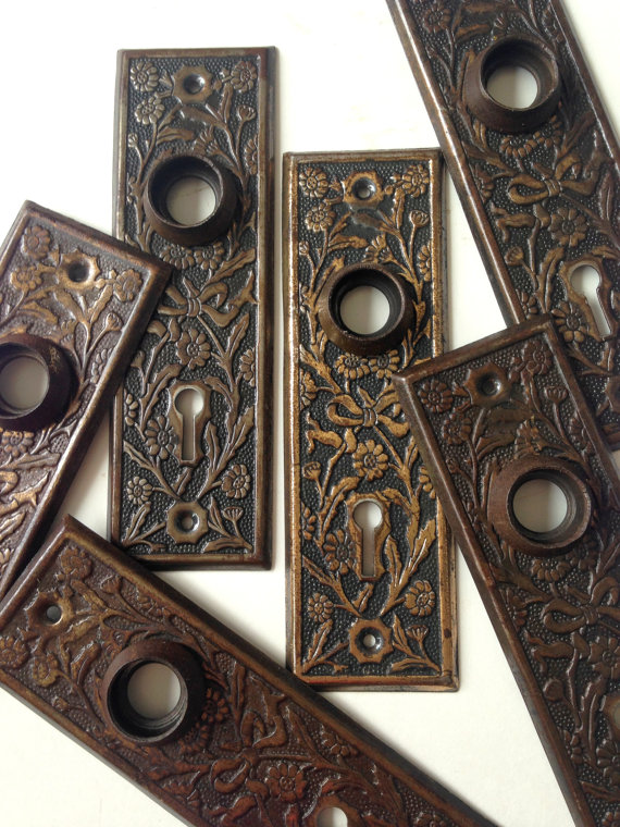 vintage door knob backplates photo - 18