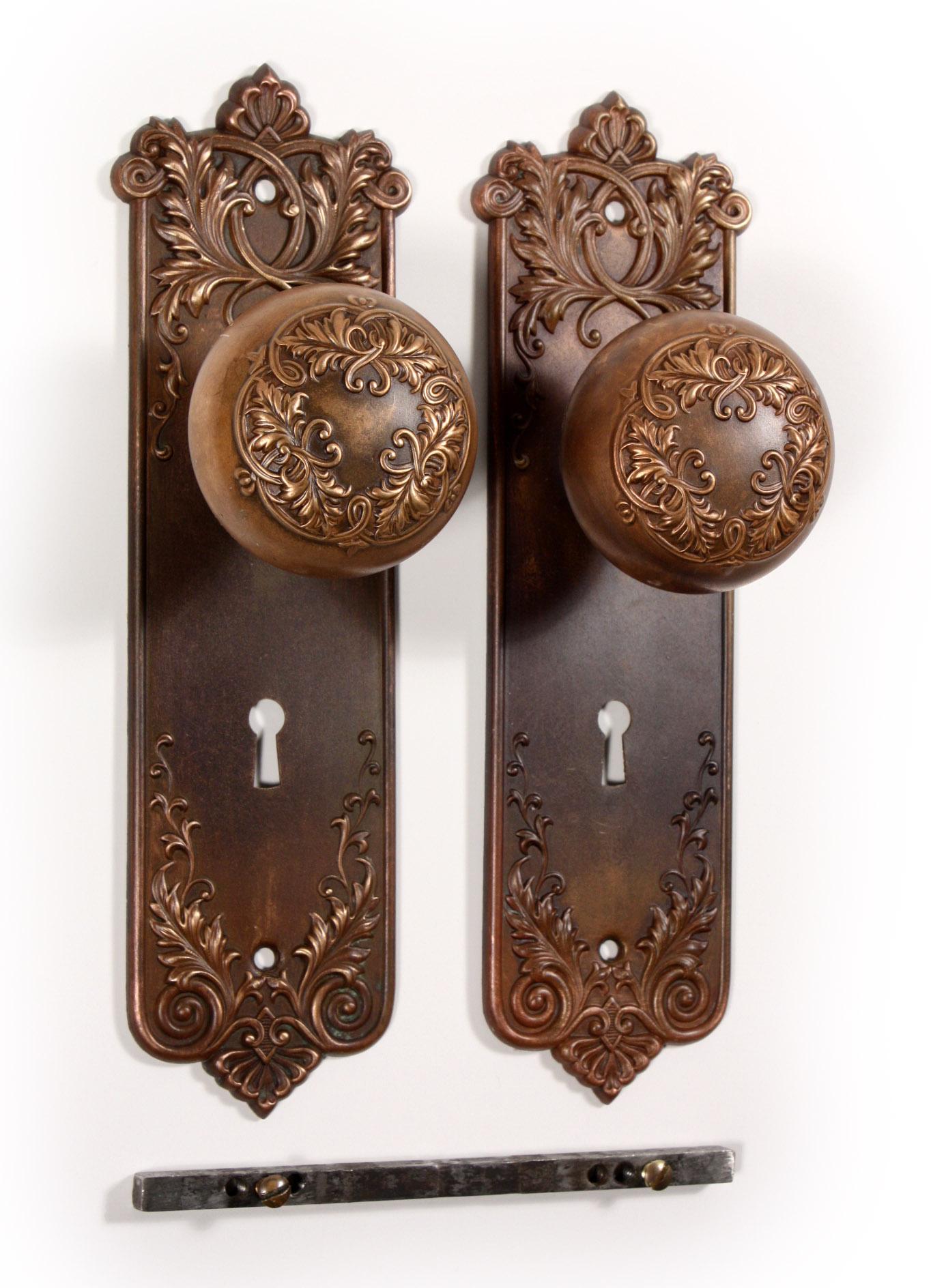 vintage door knob backplates photo - 2