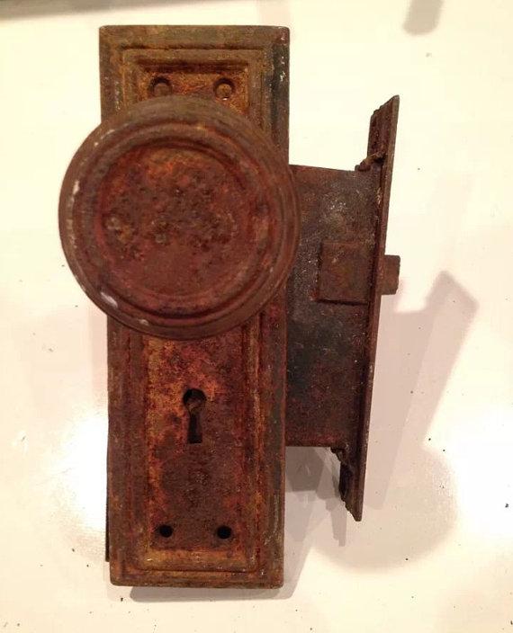 vintage door knob backplates photo - 8