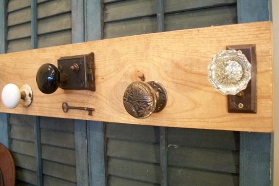 vintage door knob coat rack photo - 11