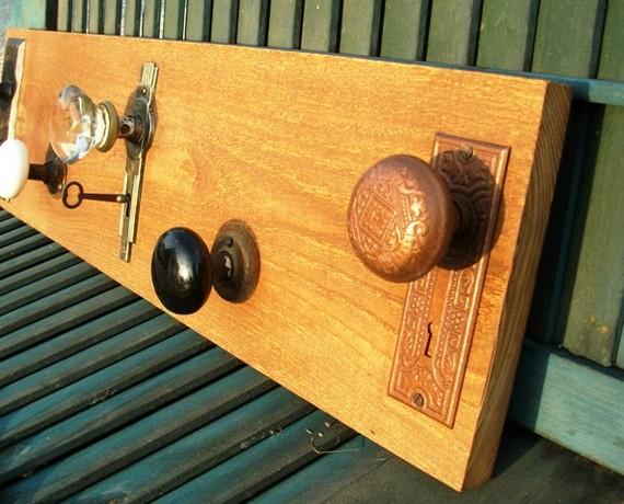 vintage door knob coat rack photo - 13