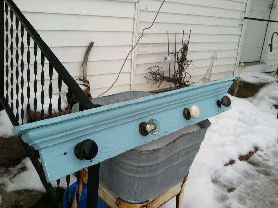 vintage door knob coat rack photo - 17
