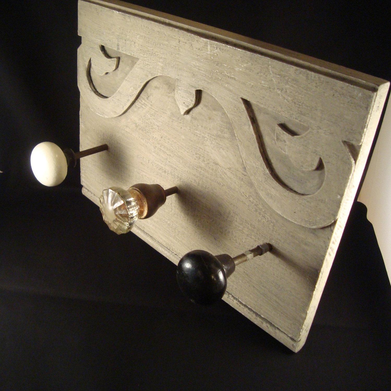 vintage door knob coat rack photo - 19