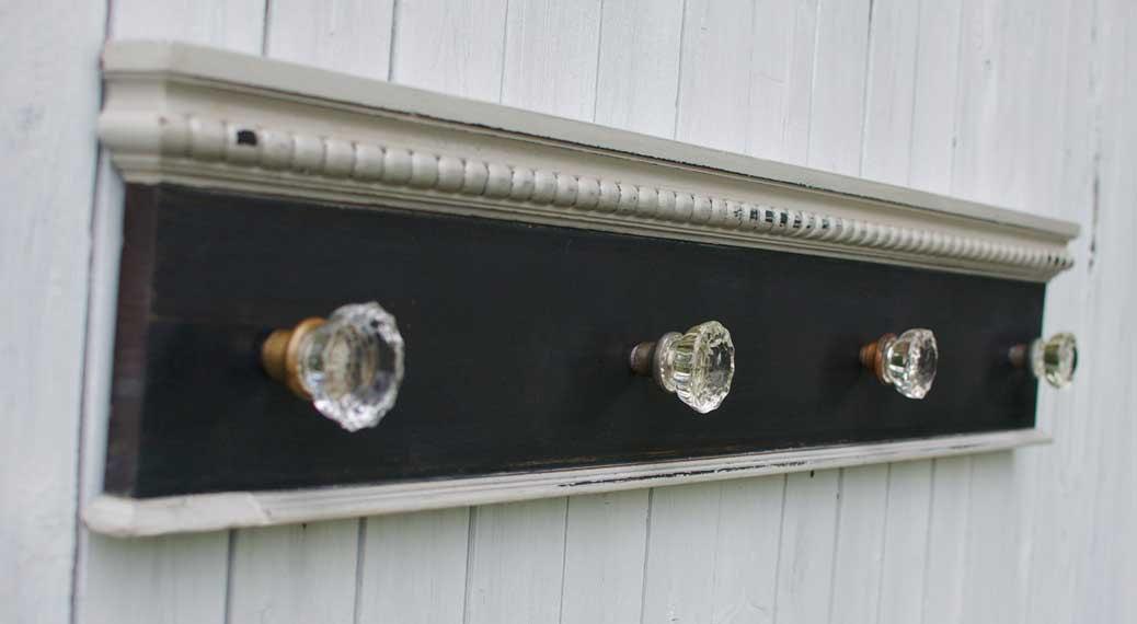 vintage door knob coat rack photo - 9
