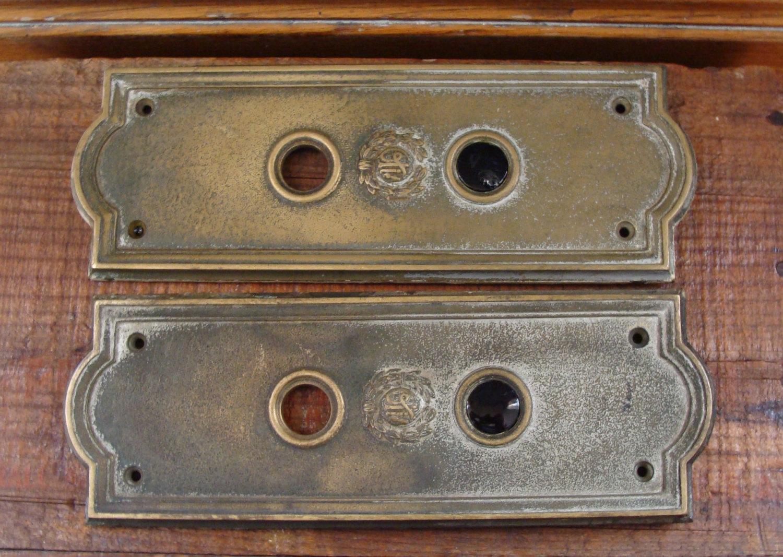 vintage door knob plates photo - 9
