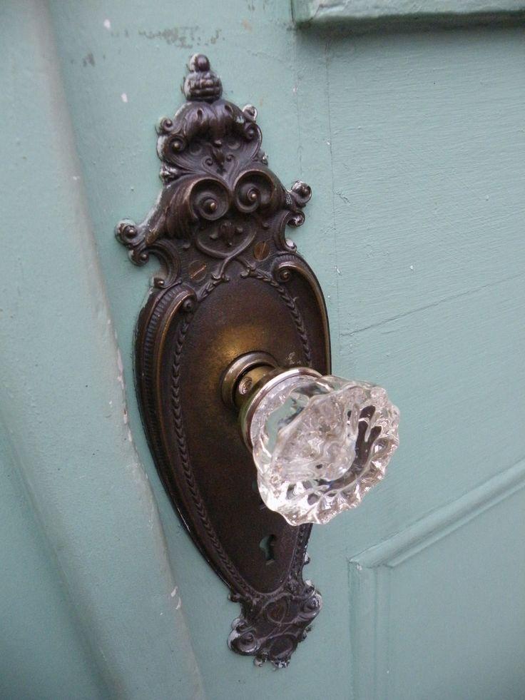 vintage glass door knob photo - 16