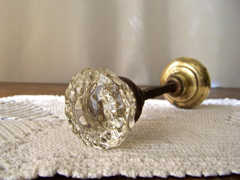vintage glass door knob photo - 18