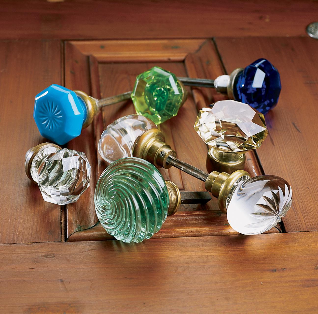 vintage glass door knobs photo - 16