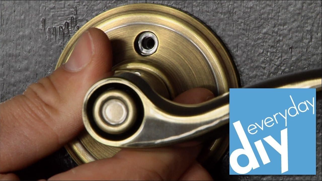 weslock door knob removal photo - 13