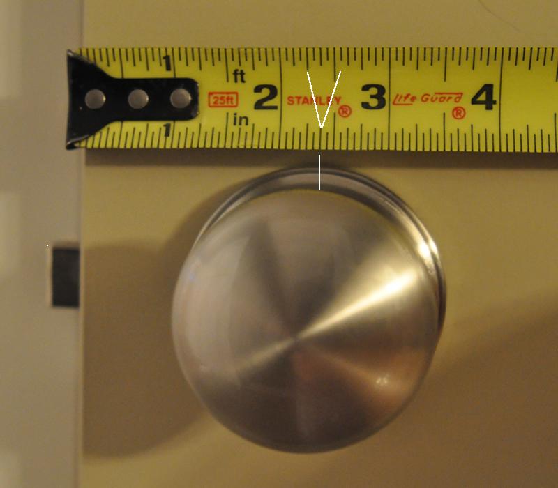 weslock door knob removal photo - 15