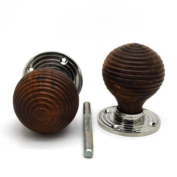 wooden beehive door knobs photo - 10