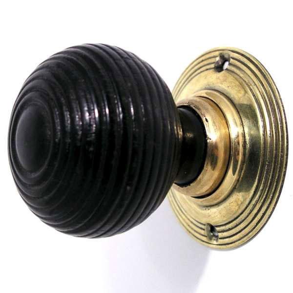 wooden beehive door knobs photo - 12